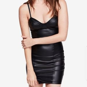 Free people faux leather dress